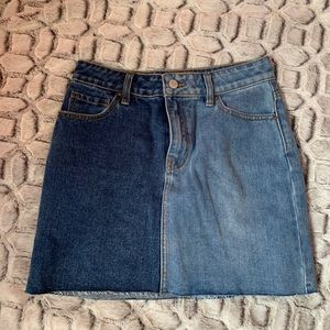 Pacsun two tone jean skirt